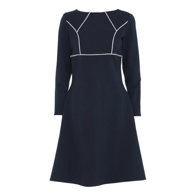 langærmet kjole i sort