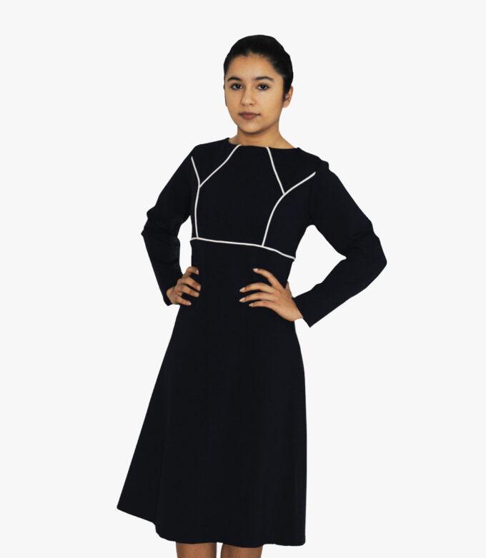 flot sort designer kjole