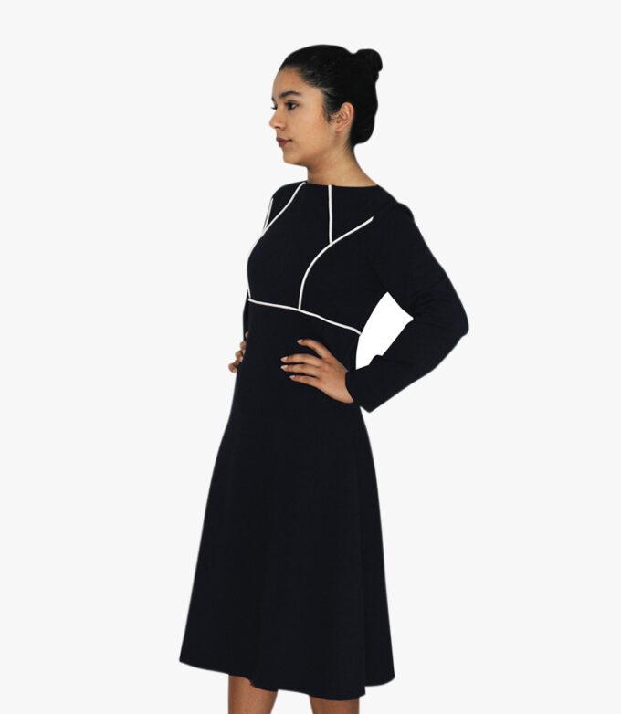 sort kjolemed lange ærmer til kvinder
