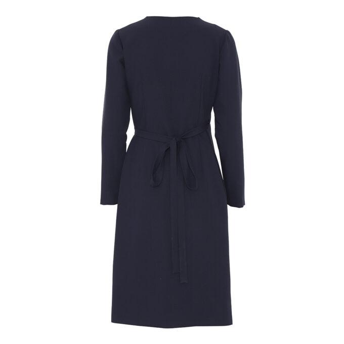 langærmet kjole i blå